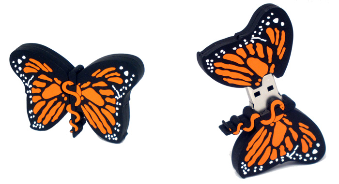Bowtie Promotions Monarch Butterfly Custom USB flash drive
