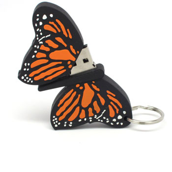 Butterfly USB Flash Drive Semi Opened - ~!~.Polling for IT world comp June 2013.~!~