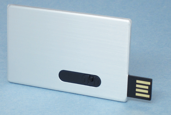 USB Metal Flash Drive Card Empty Canvas Open